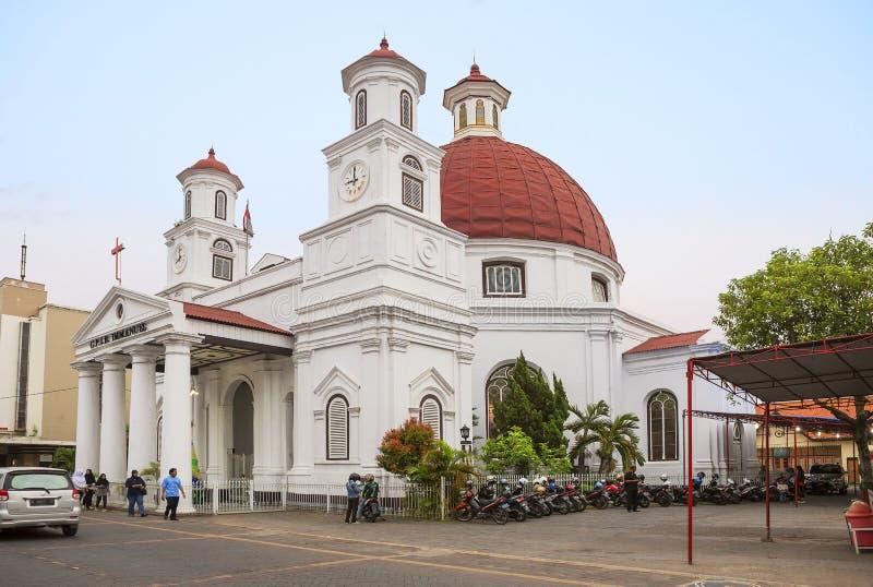 Samarang, Indonesia, chiesa di Blenduk fotografia stock