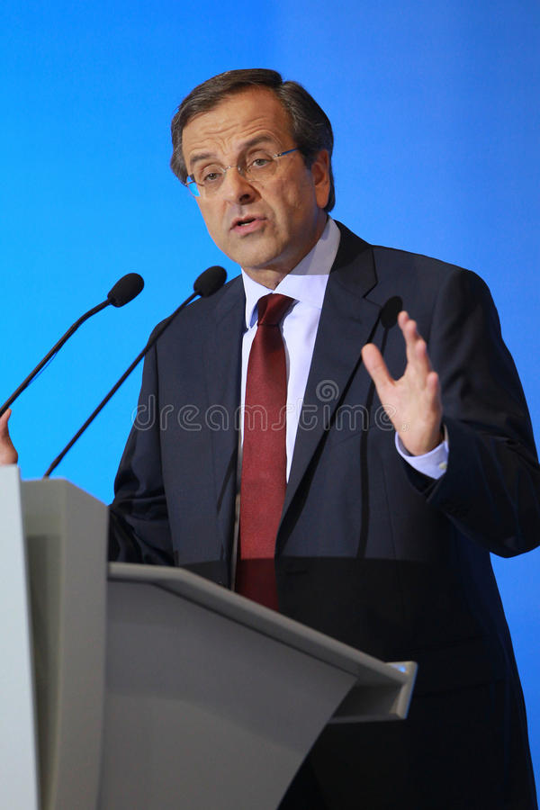 Samaras d'Antonis à Salonique image stock