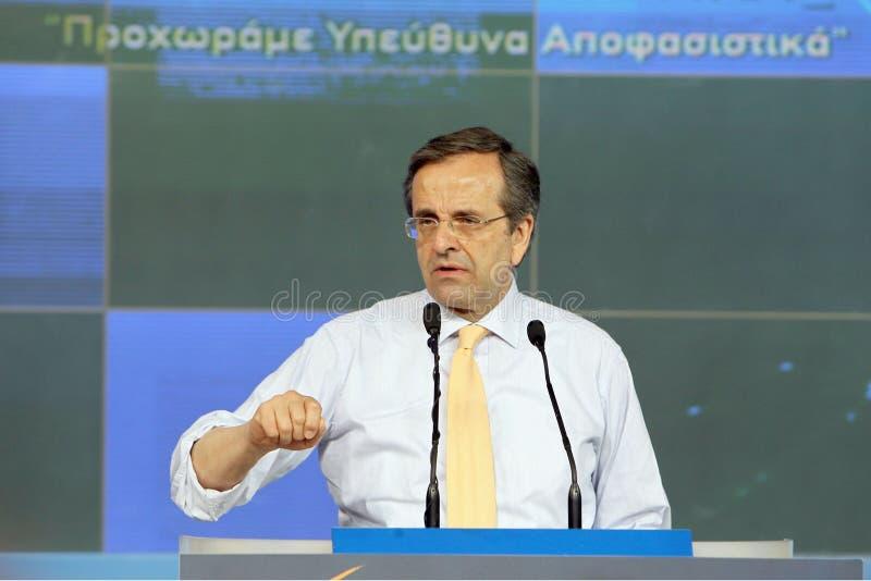 Samaras d'Antonis à Salonique photo libre de droits