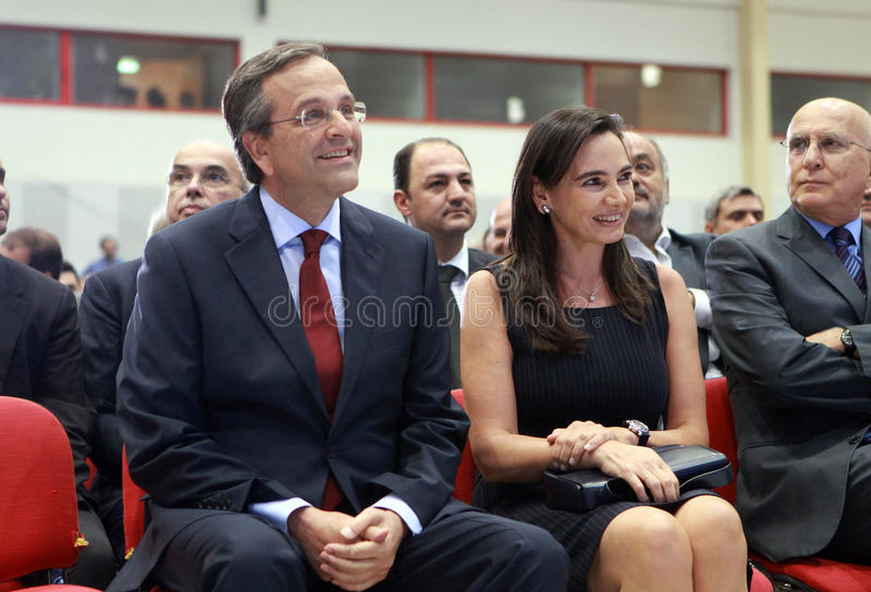 Samaras d'Antonis à Salonique image libre de droits