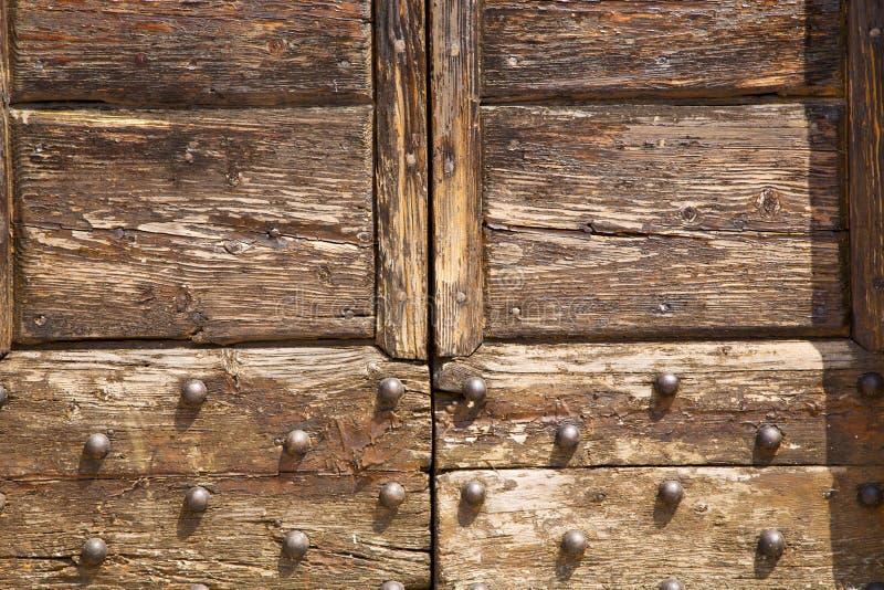 Samarate lombardy de madeira fechado abstrato Italia varese fotografia de stock royalty free