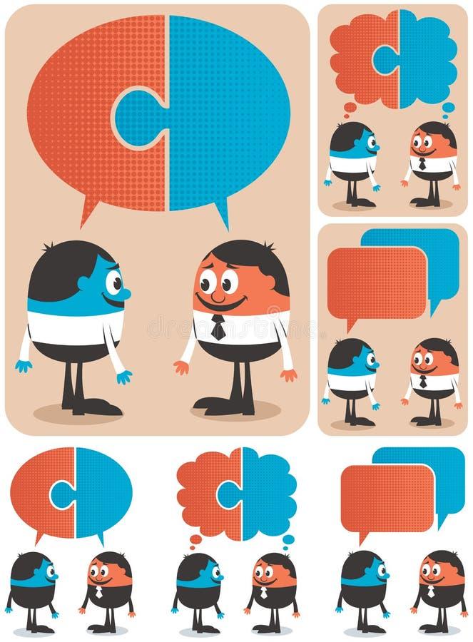 samarbete royaltyfri illustrationer