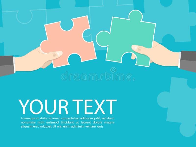 Samarbete för teamworkbegreppsfigursåg, vektor för affär för samarbete för handhållfigursåg stock illustrationer
