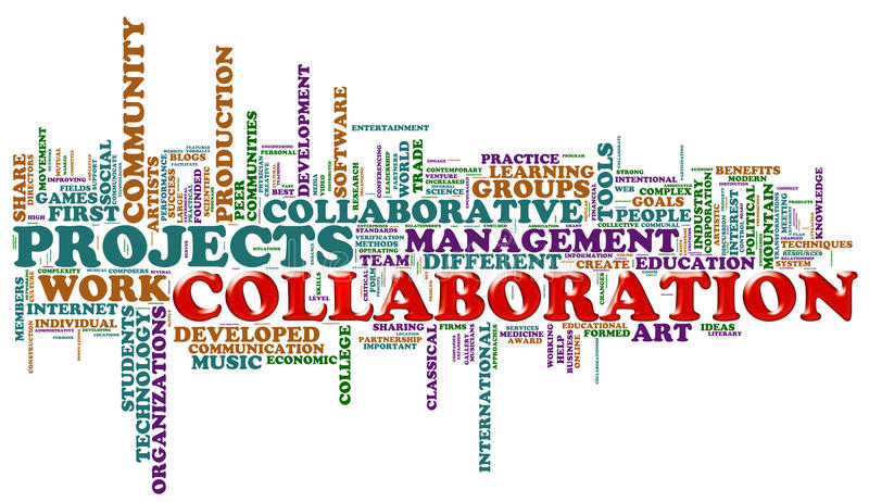 samarbete tags ord vektor illustrationer