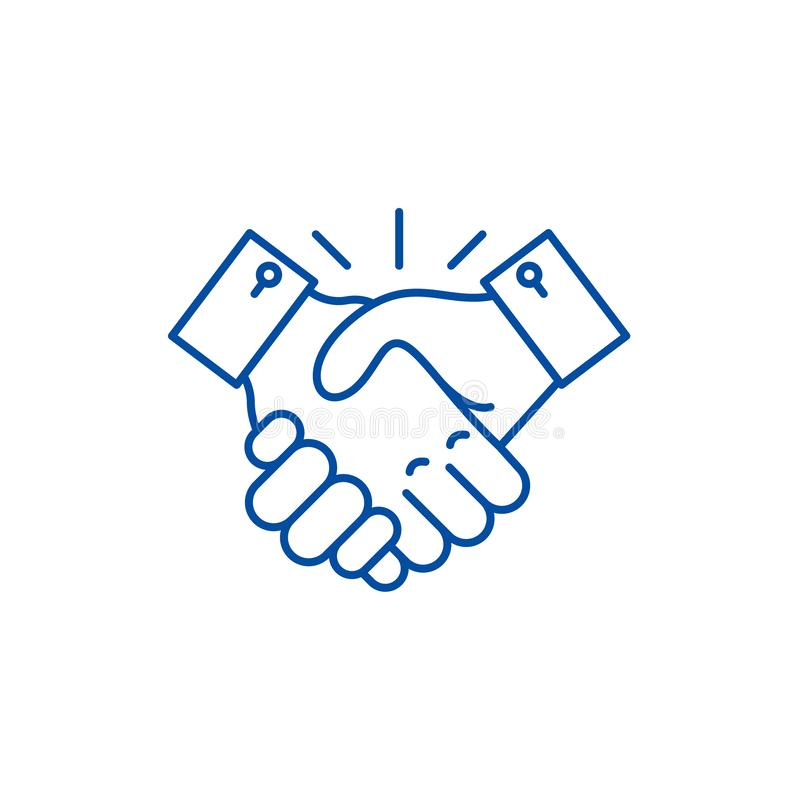 Samarbetslinje symbolsbegrepp Plant vektorsymbol för samarbete, tecken, översiktsillustration royaltyfri illustrationer