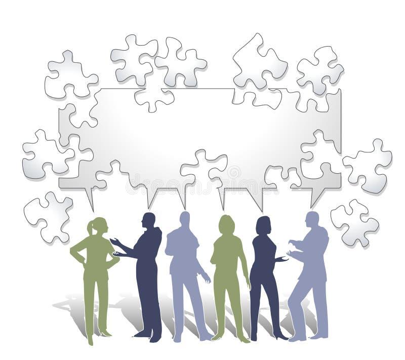samarbetspussel stock illustrationer