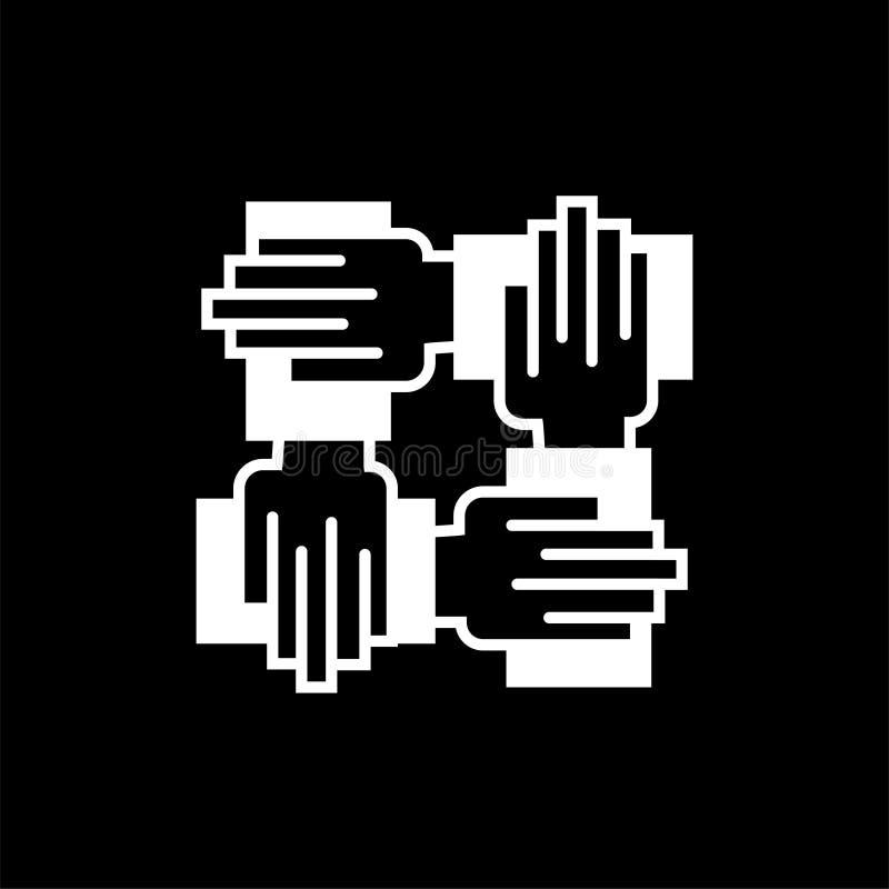 Samarbetssymbol teckensymbol vektor illustrationer