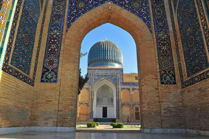 Samarcanda: architettura del mausoleo di Gur Emir fotografia stock libera da diritti