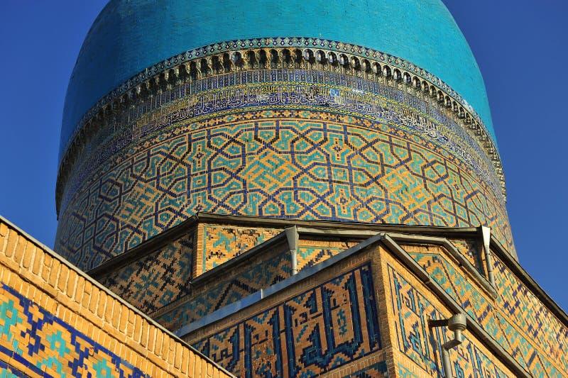 Samarcanda: dettagli della cupola di Registan fotografia stock libera da diritti