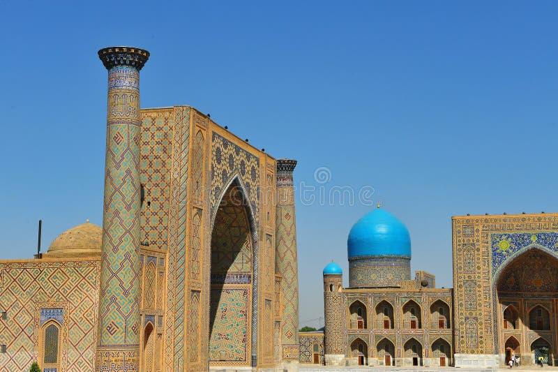Samarcanda: il Registan fotografia stock