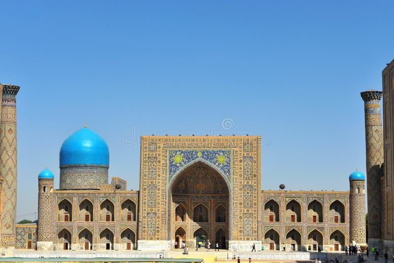 Samarcanda: Insieme di Registan fotografia stock libera da diritti