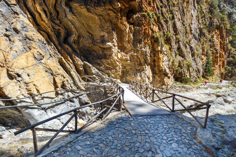 Samaria Gorge su Creta immagine stock