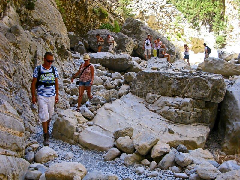 Samaria Gorge, Crete, Greece royalty free stock photos