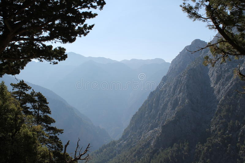 Samaria klyfta, crete royaltyfria foton