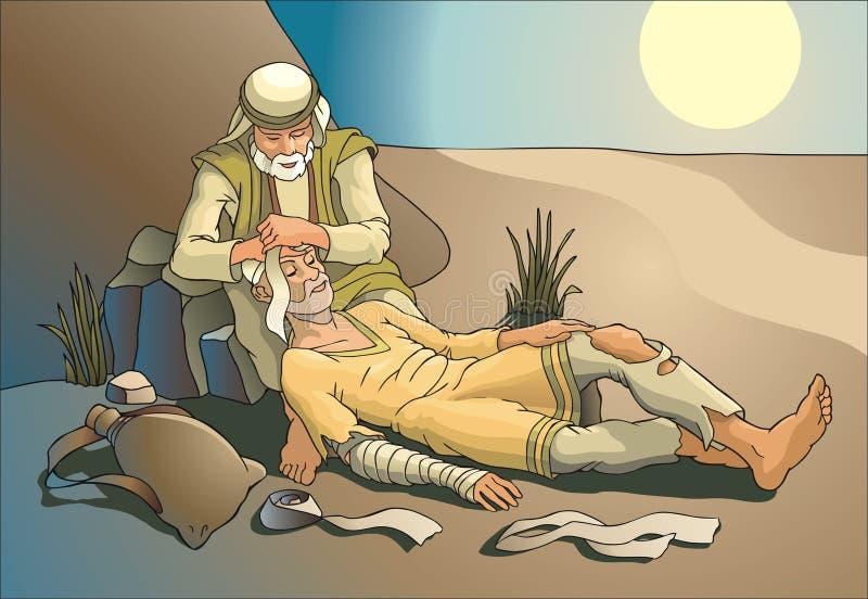 Samaritano ilustração royalty free