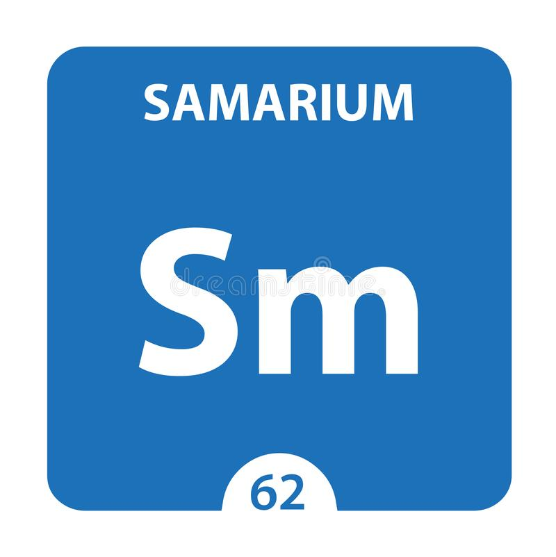 Samarium Chemical 62 élément du tableau périodique Contexte De La Molécule Et De La Communication Samarium Chemical Sm, laboratoi illustration de vecteur