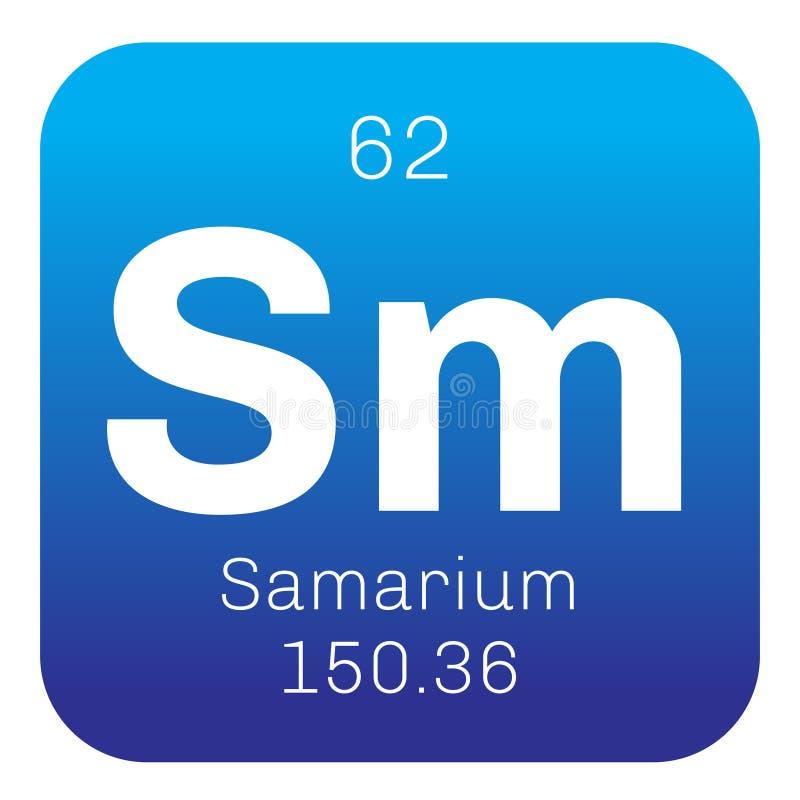Samarium chemisch element vector illustratie