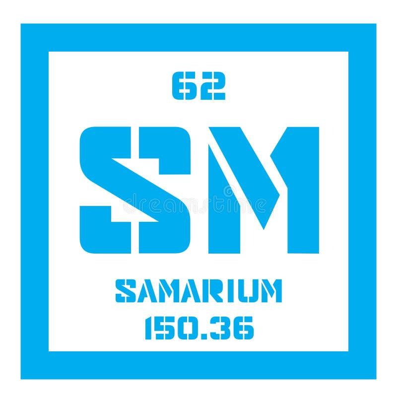 Samarium chemisch element royalty-vrije illustratie