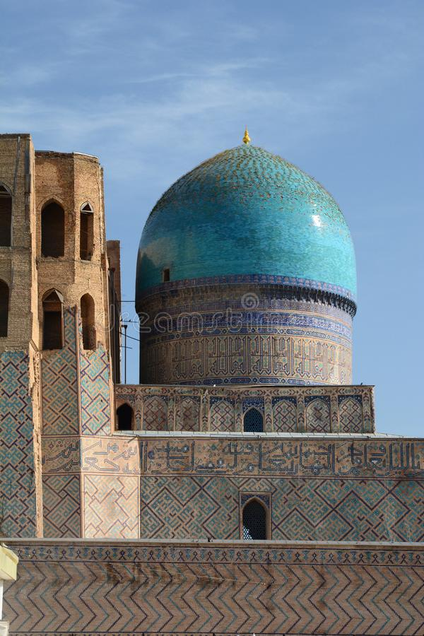 Bibi-Khanym Mosque dome. Samarkand. Uzbekistan. Samarkand is a city in southeastern Uzbekistan, located on the ancient Silk road; Bibi-Khanym Mosque is one of royalty free stock photography