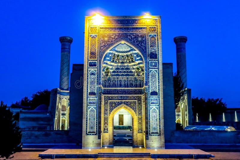 Samarkand Gur-e emira mauzoleum 25 obraz stock