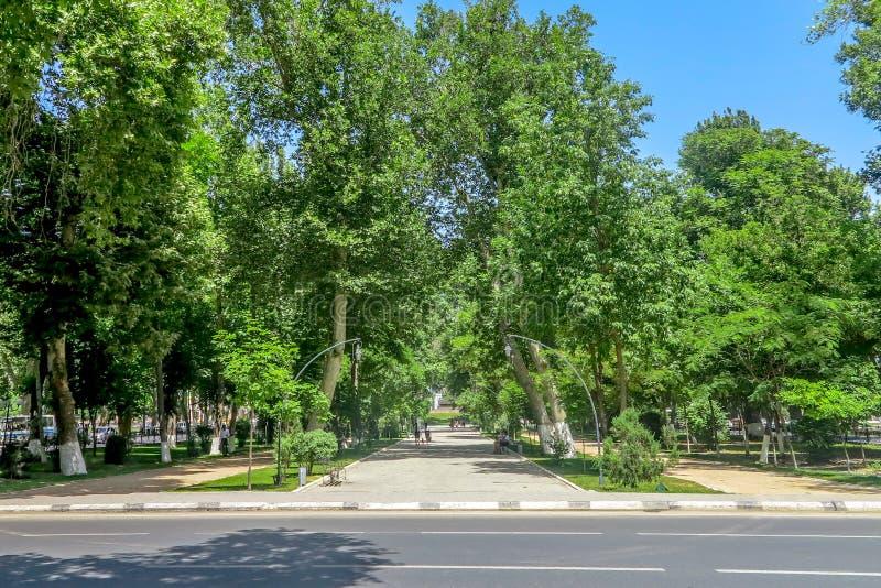 Samarkand-Hochschulboulevard-Park 05 stockfotos