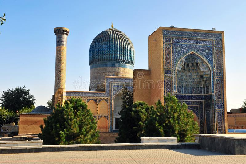 Samarkand: Mausoleo de Gur Emir fotografía de archivo libre de regalías