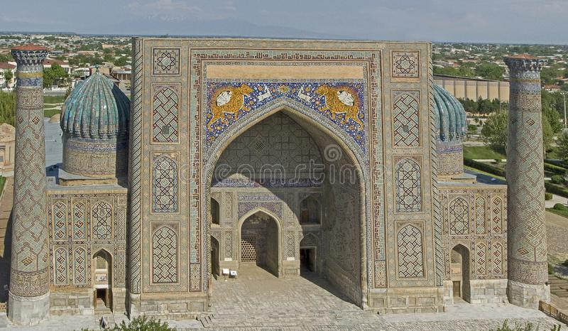 samarkand Medres Shir Dor imágenes de archivo libres de regalías