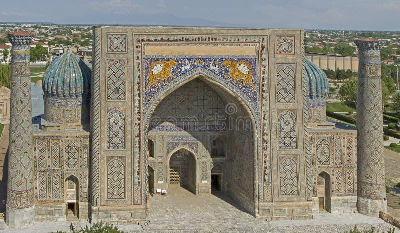 samarkand Medres Shir Dor zdjęcie royalty free