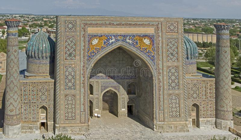 Samarkand.Medres Shir Dor royalty free stock photo