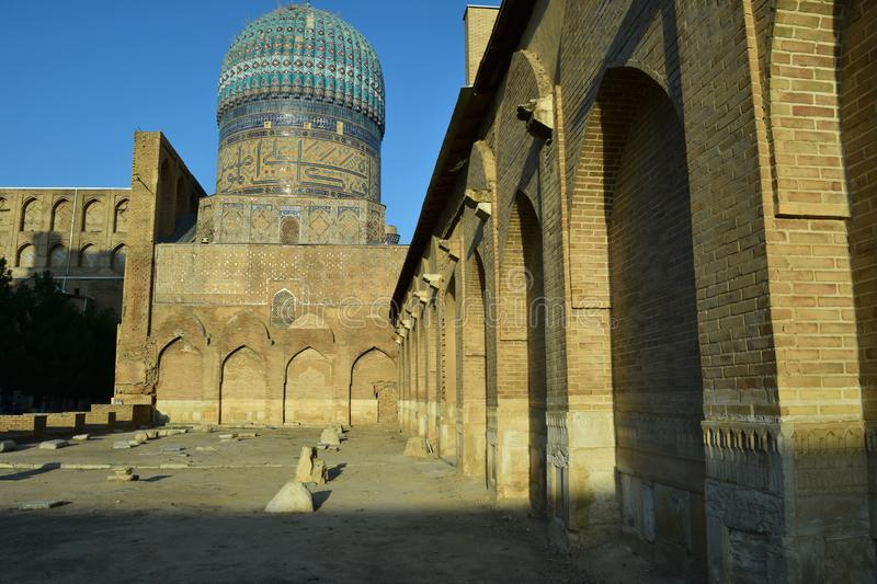 Samarkand. Ouzbékistan. Septembre 2019. L'ancien complexe architectural du Registan photos stock