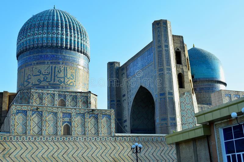 Samarkand Ouzbékistan Septembre 2019 L'ancien complexe architectural du Registan photo libre de droits