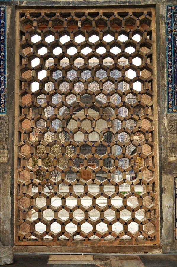 Samarkand. Registan.Ulugh imploram Madrasah foto de stock royalty free