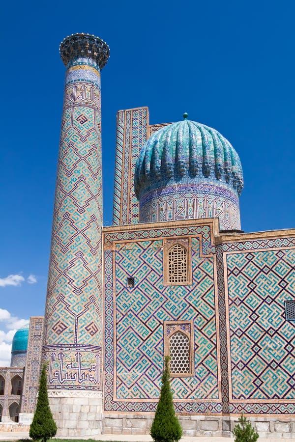 Samarkand, Sher Dor Madrasah fotografia de stock