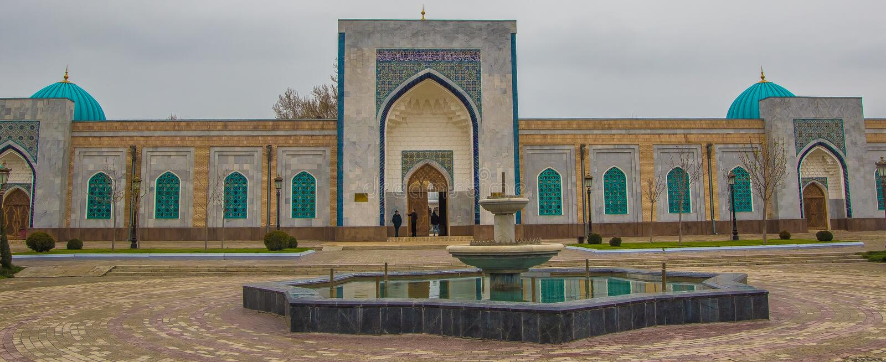 Samarkand Uzbekistan, Marzec, - 21, 2016: Pamiątkowy kompleks imam fotografia royalty free