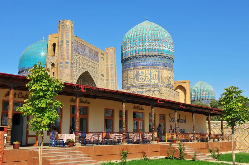 Samarkand, Uzbekistan Mezquita de Bibi Khanym imágenes de archivo libres de regalías