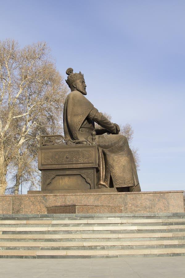 Samarkand, Uzbekistan Monument à Amir Timur Tamerlane photo libre de droits