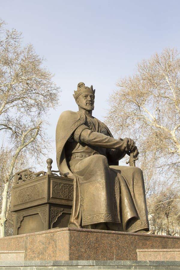 Samarkand, Uzbekistan Monumento a Amir Timur Tamerlane imagens de stock royalty free