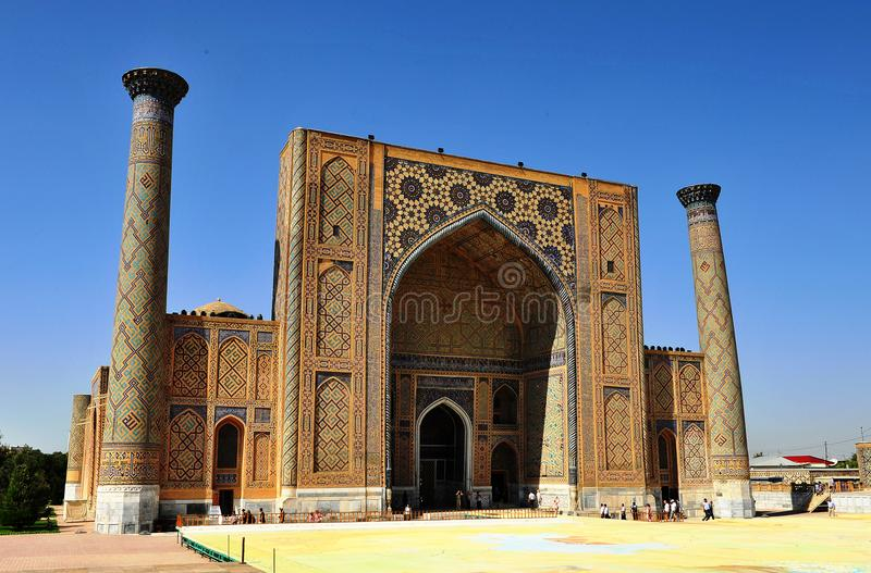 Samarkand: view of the Registan stock images