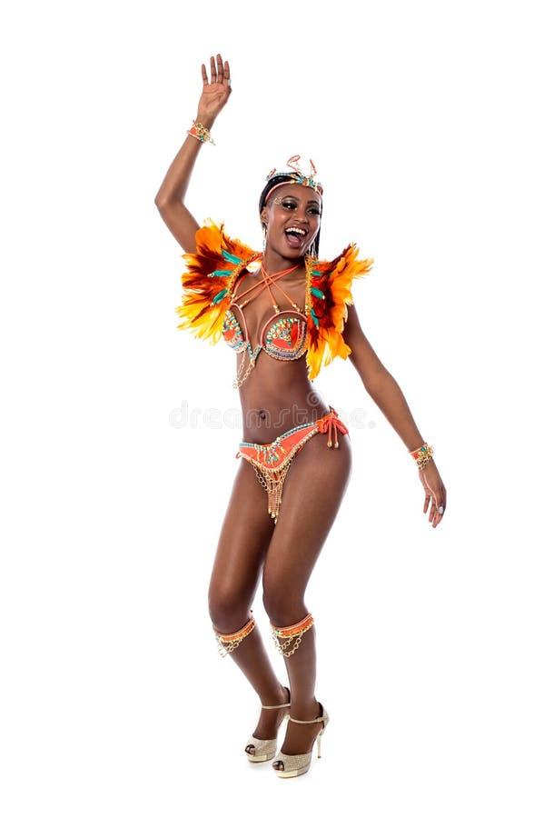 Samba africano da dança da mulher imagem de stock