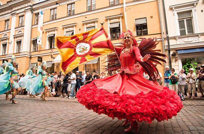 Samba Carnaval de Helsínquia fotografia de stock royalty free