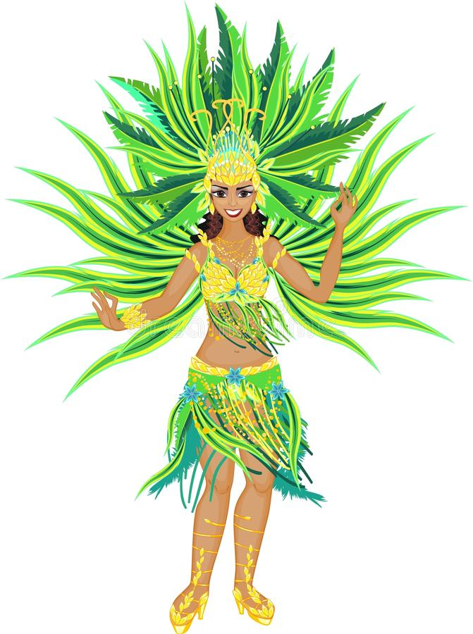Samba Dancer stock illustratie