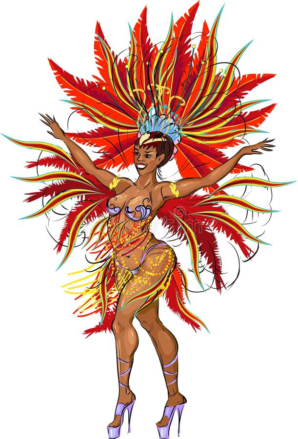 Samba Dancer royalty-vrije illustratie