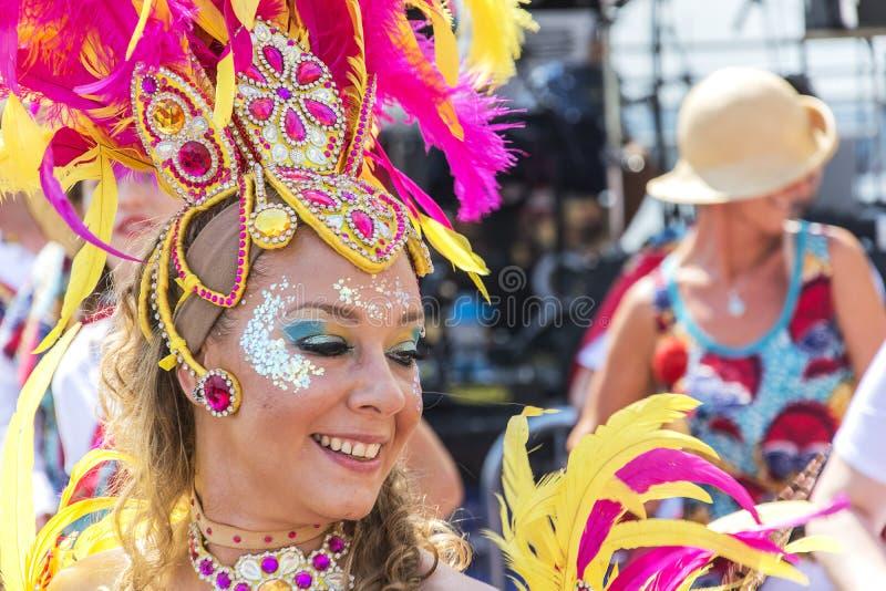 Samba dancer Brazilica Festival Liverpool merseyside royalty free stock images