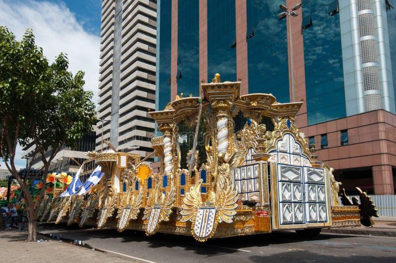 Samba Szkolny pojazd w Rio De Janeiro zdjęcie stock