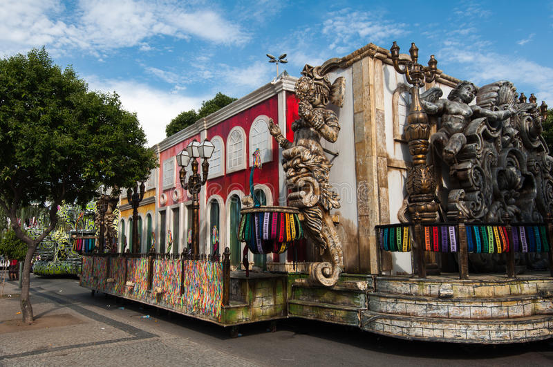 Samba Szkolny pojazd w Rio De Janeiro zdjęcie royalty free