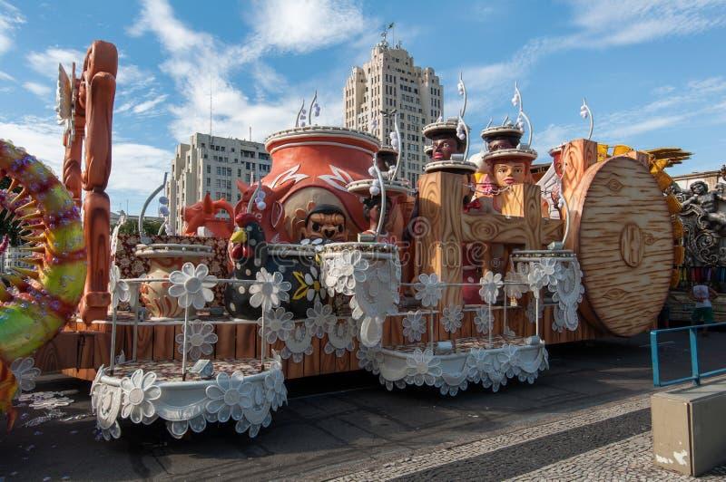 Samba Szkolny pojazd w Rio De Janeiro fotografia stock