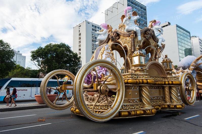 Samba Szkolny pojazd w Rio De Janeiro zdjęcia stock