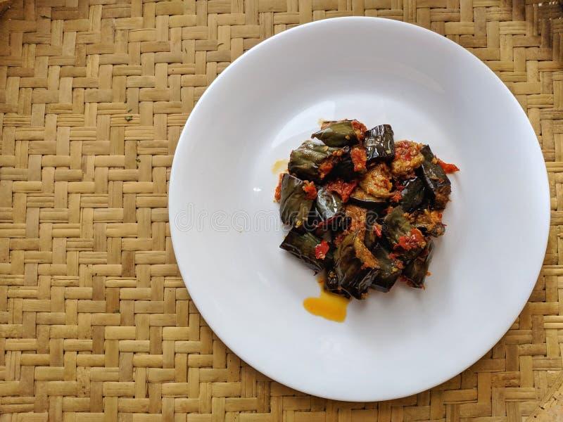 Sambal Terong是印度尼西亚传统食物 库存图片