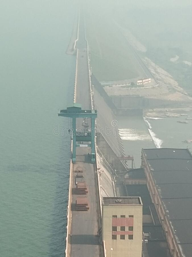 Sambalpur Dam india longest Dam Hirakhund Mahanadi. Sambalpur Dam india longest Dam Hirakhund stock photo