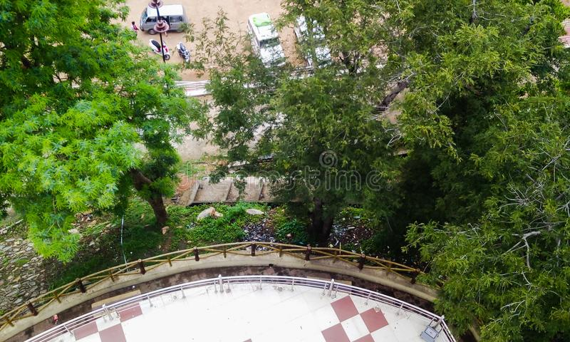 Ariel view of nature royalty free stock photos